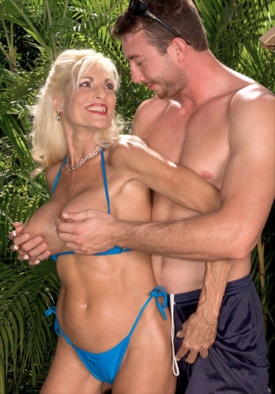 Bikini milf gets anal